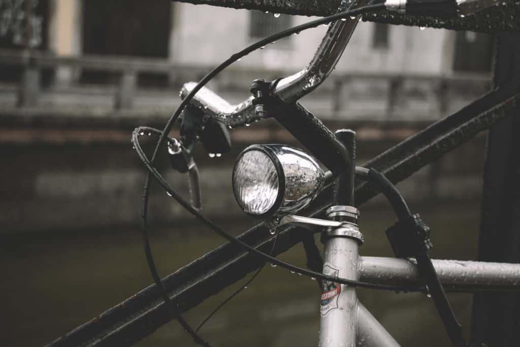 Biking in the Rain to Work