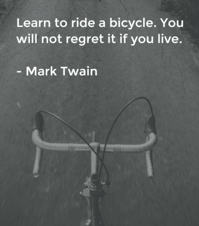 mark twain bike quote