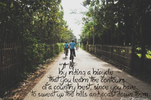 hemingway bicycle quote