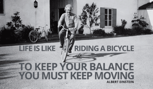 einstein bike quote
