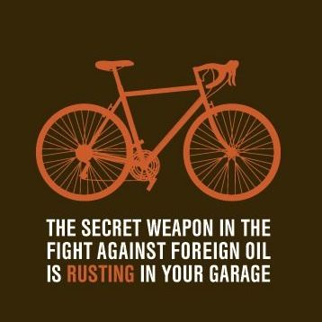 fight oil with bikes