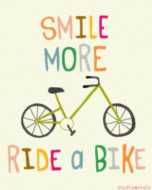 smile while riding a bike