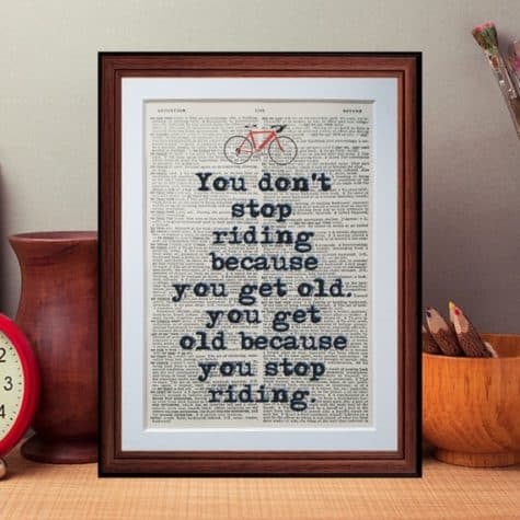 old bike riders quote