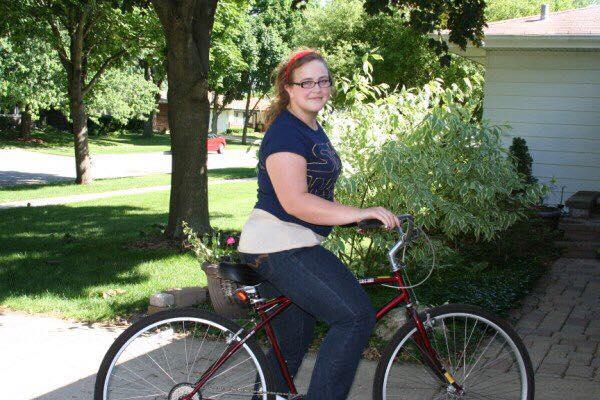 illinois bike commuting nanny