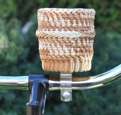 wood bike cup holder