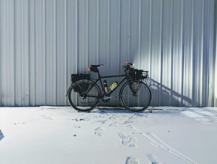 beautiful winter commuter bike