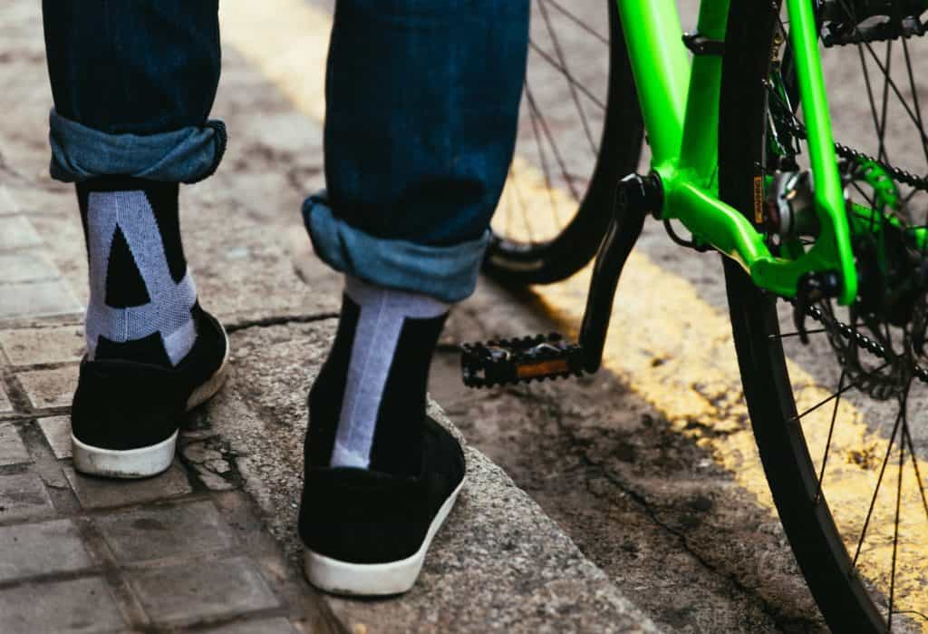 funky bicycling socks