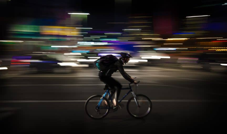 biking at night