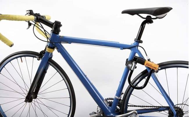 how to attach kryptonite u-lock on bike