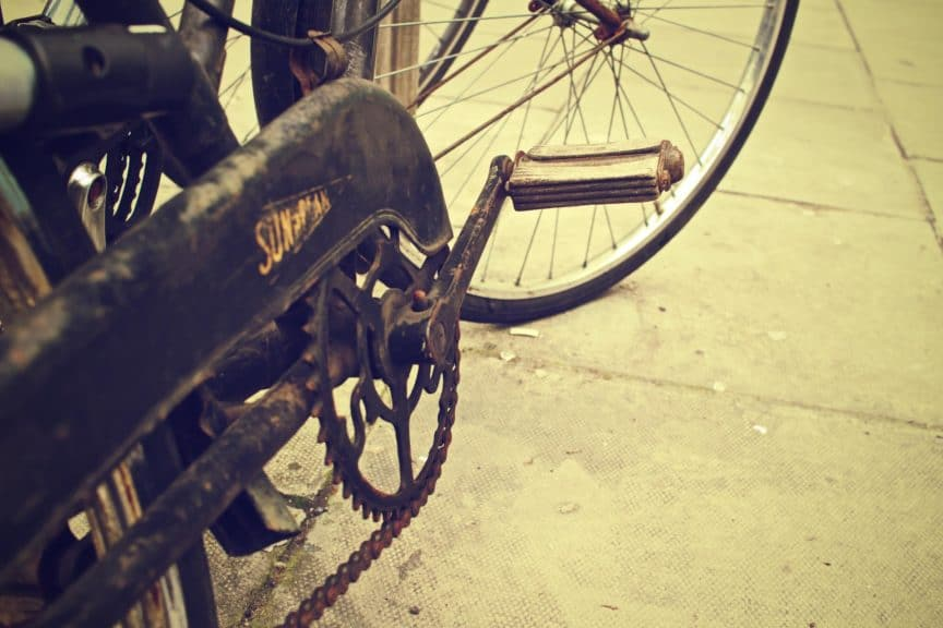 rusted bicycle