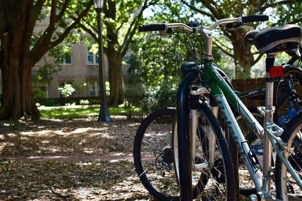 bike parked at college