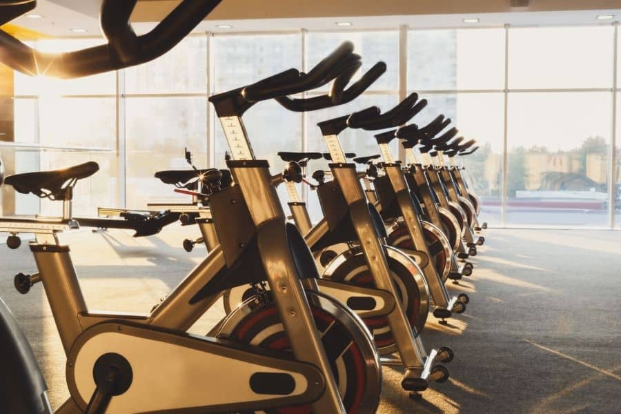 Line of indoor cycling machines