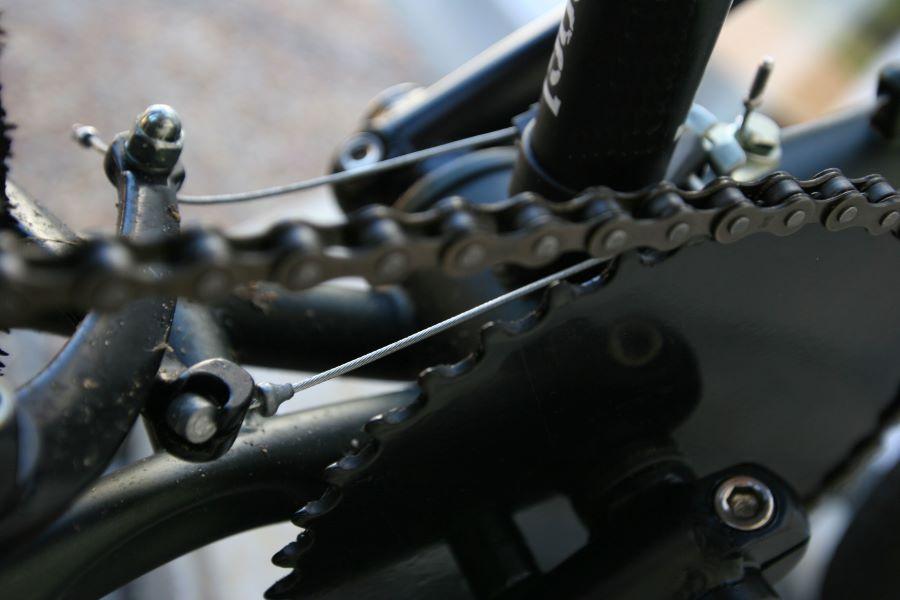 BMX brakes close-up