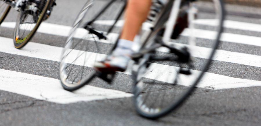 Tour de France close-up of cyclists legs